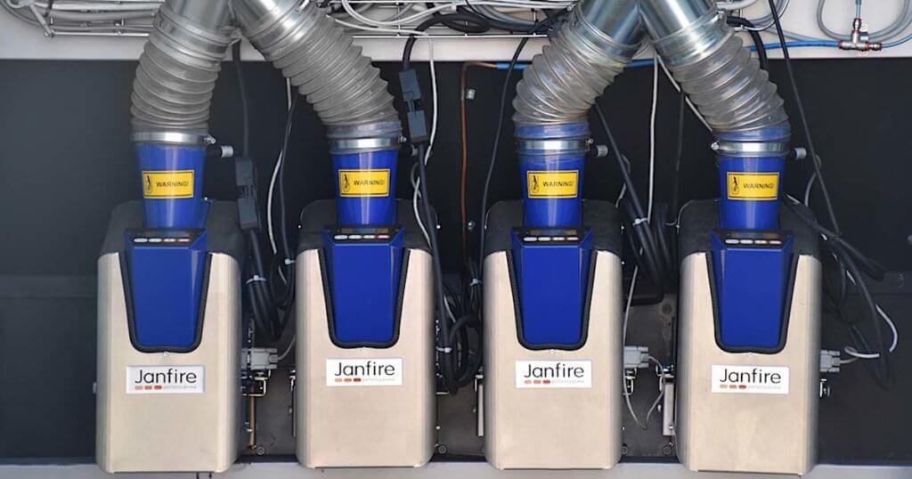 Janfire luftvärme 100 KWh